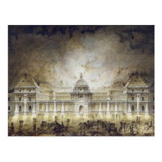 El palacio de Luxemburgo iluminado Tarjetas Postales