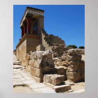 El palacio de Minoan de Knossos Póster