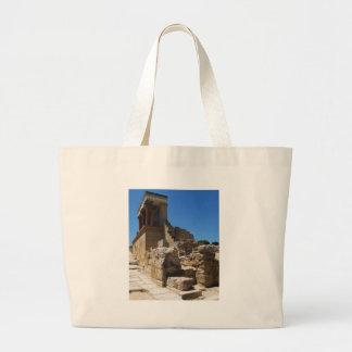 El palacio de Minoan de la fotografía de Knossos Bolsa De Mano