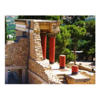El palacio de Minoan de la imagen de Knossos Tarjeta Postal