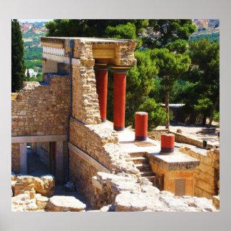 El palacio de Minoan del POSTER de Knossos