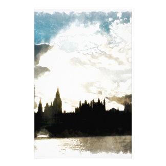 El palacio de Westminster en Londres Papeleria