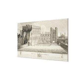 El palacio de Whitehall, de un dibujo en el Pep Impresiones En Lona Estiradas