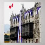 """El palacio del arzobispo con los """"balcones"""" Lima d Posters"""