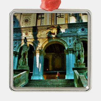 El palacio del dux - Venecia Adorno Navideño Cuadrado De Metal