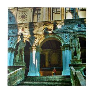 El palacio del dux - Venecia Azulejo Cuadrado Pequeño