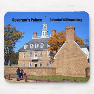El palacio del gobernador, Williamsburg colonial Alfombrillas De Ratones