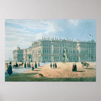 El palacio del invierno según lo visto de paso del póster