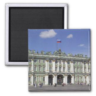 El palacio del invierno, St Petersburg, Rusia (RF) Imán Cuadrado
