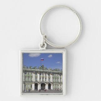El palacio del invierno, St Petersburg, Rusia (RF) Llavero Cuadrado Plateado