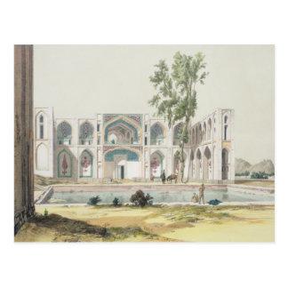 El palacio del Tchar-Bolso en Isfahán, Persia, Tarjeta Postal