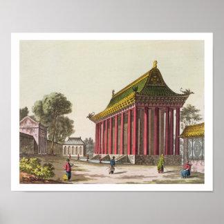 """El """"palacio europeo"""" en Yuen-Ming-Yuan, illustrat Póster"""