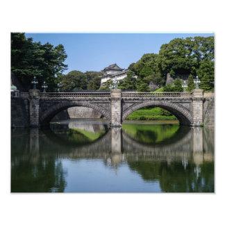 El palacio imperial de Tokio - impresión de la Fotografía