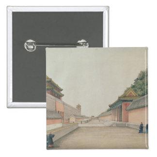 El palacio imperial en Pekín Pin Cuadrada 5 Cm