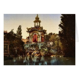 El palacio Lumineux, exposición Universal, 1900, P Tarjeta De Felicitación