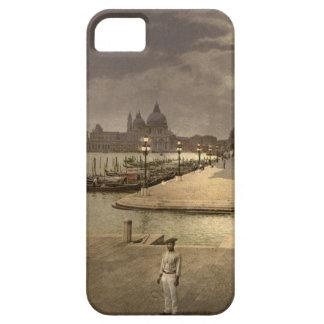 El palacio por claro de luna, Venecia, Italia del  iPhone 5 Case-Mate Cárcasas