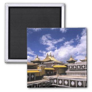 El palacio Potala dentro con las agujas en el hoga Imán De Frigorifico