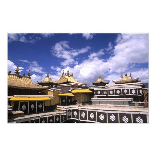 El palacio Potala dentro con las agujas en el hoga Impresiones Fotográficas