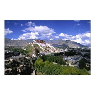 El palacio Potala en cordillera del aher Fotografía