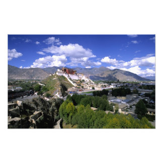 El palacio Potala en cordillera del aher Impresiones Fotograficas