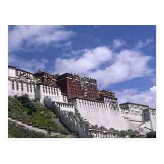El palacio Potala en la montaña el hogar del Dalai Tarjetas Postales