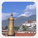 El palacio Potala en Lasa, Tíbet tomado de Pegatina Cuadrada