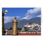 El palacio Potala en Lasa, Tíbet tomado de Tarjeta De Felicitación