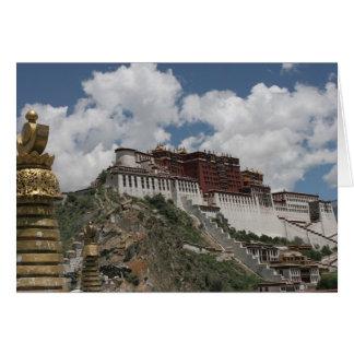 El palacio Potala, tarjeta de felicitación de Lasa