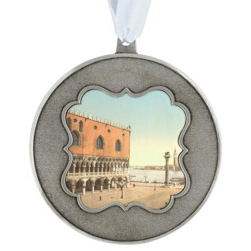 El palacio y el Piazzetta, Venecia, Italia del dux Adorno Ondulado