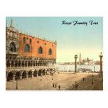 El palacio y el Piazzetta, Venecia, Italia del dux Postal