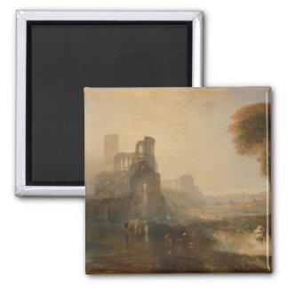 El palacio y puente - Guillermo Turner de Caligula Imán De Frigorifico