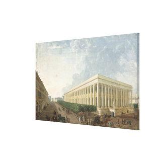El Palais de la la Bourse Impresión De Lienzo