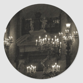 El Palais Garnier París Francia Etiqueta Redonda
