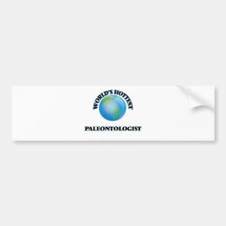 El paleontólogo más caliente del mundo etiqueta de parachoque