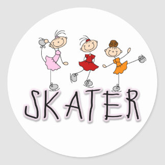 El palillo del chica del patinador figura al pegat