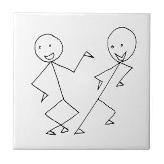 El palillo figura el baile azulejo cuadrado pequeño