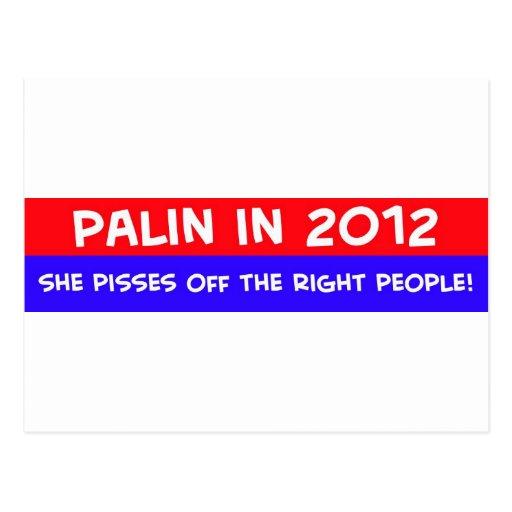 el palin 2012 pisses apagado a gente adecuada tarjeta postal