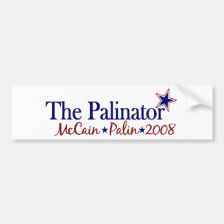 El Palinator McCain Palin 2008 Etiqueta De Parachoque