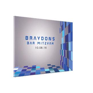El palo Mitzvah de la barra de DIGITAL firma TAN Impresión En Lienzo