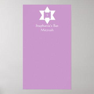El palo Mitzvah firma adentro el poster del tabler