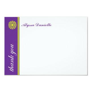 """El palo púrpura Mitzvah de Simcha le agradece Invitación 3.5"""" X 5"""""""