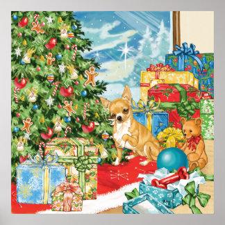 El pan de jengibre desea arte del navidad de la ch poster