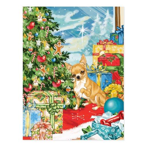 El pan de jengibre desea arte del navidad de la ch tarjeta postal