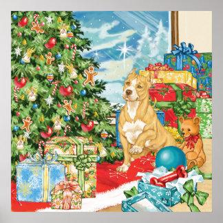 El pan de jengibre desea arte del navidad de Terri Póster