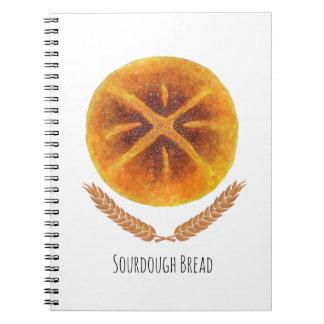 El pan de pan amargo libreta espiral