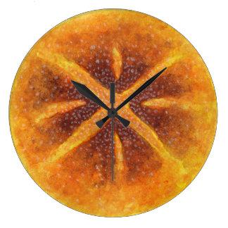 El pan de pan amargo reloj redondo grande