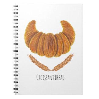 El pan del Croissant Libro De Apuntes Con Espiral