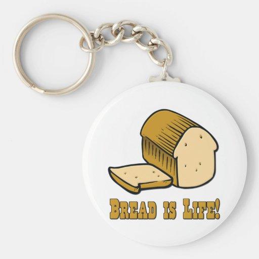 El pan es vida llaveros personalizados