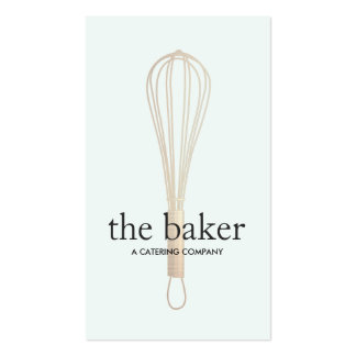 El panadero del chef de repostería bate la tarjetas de visita