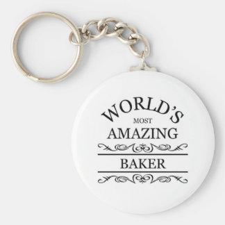 El panadero más asombroso del mundo llavero redondo tipo pin